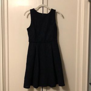 Ann Taylor fit and flair jacquard dress